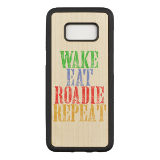 Wake Eat ROADIE Repeat Carved Samsung Galaxy S8 Case