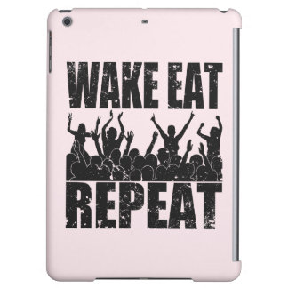 WAKE EAT ROCK REPEAT #2 (blk) Cover For iPad Air
