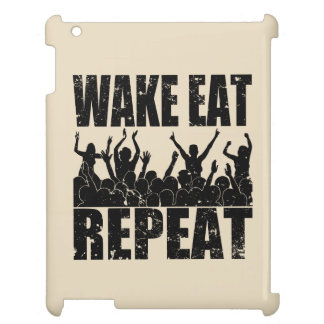 WAKE EAT ROCK REPEAT #2 (blk) Cover For The iPad