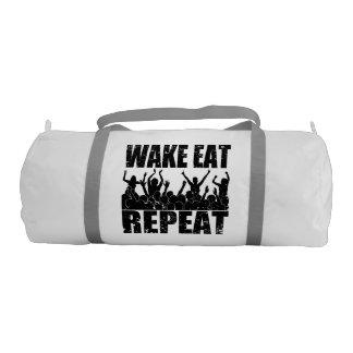 WAKE EAT ROCK REPEAT #2 (blk) Gym Bag