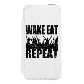 WAKE EAT ROCK REPEAT #2 (blk) Incipio Watson™ iPhone 5 Wallet Case