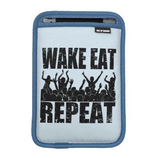 WAKE EAT ROCK REPEAT #2 (blk) iPad Mini Sleeve