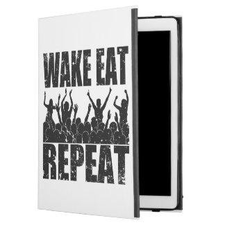 "WAKE EAT ROCK REPEAT #2 (blk) iPad Pro 12.9"" Case"