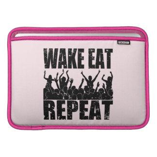WAKE EAT ROCK REPEAT #2 (blk) MacBook Sleeve