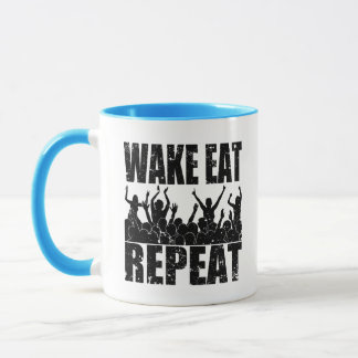 WAKE EAT ROCK REPEAT #2 (blk) Mug