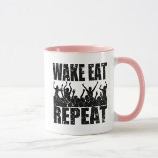 WAKE EAT ROCK REPEAT #2 (blk) Mug