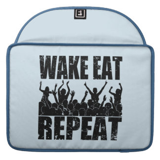 WAKE EAT ROCK REPEAT #2 (blk) Sleeve For MacBook Pro