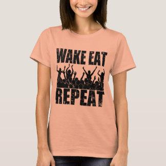 WAKE EAT ROCK REPEAT #2 (blk) T-Shirt