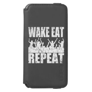 WAKE EAT ROCK REPEAT #2 (wht) Incipio Watson™ iPhone 6 Wallet Case