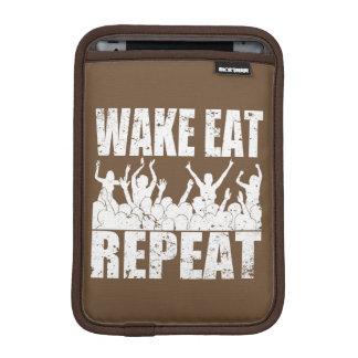 WAKE EAT ROCK REPEAT #2 (wht) iPad Mini Sleeve