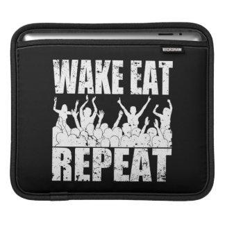 WAKE EAT ROCK REPEAT #2 (wht) iPad Sleeve