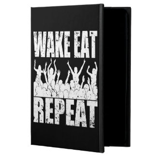 WAKE EAT ROCK REPEAT #2 (wht) Powis iPad Air 2 Case