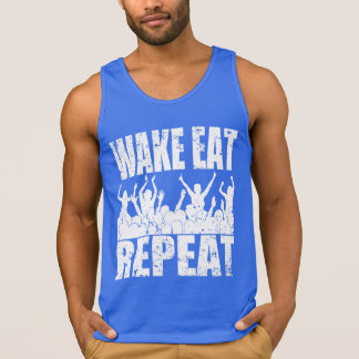 WAKE EAT ROCK REPEAT #2 (wht) Singlet