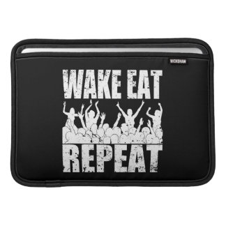 WAKE EAT ROCK REPEAT #2 (wht) Sleeve For MacBook Air