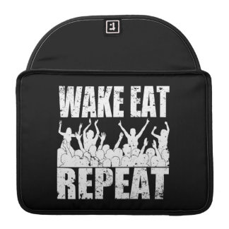 WAKE EAT ROCK REPEAT #2 (wht) Sleeve For MacBooks