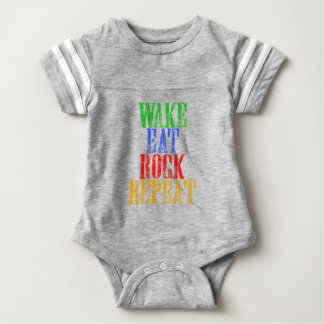 WAKE EAT ROCK REPEAT #3 BABY BODYSUIT