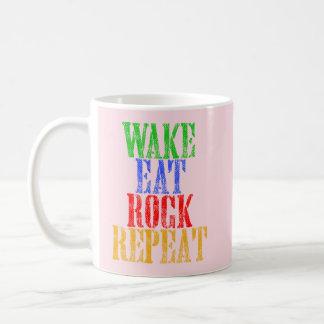 WAKE EAT ROCK REPEAT #3 COFFEE MUG