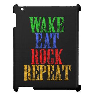 WAKE EAT ROCK REPEAT #3 iPad CASE