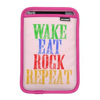 WAKE EAT ROCK REPEAT #3 iPad MINI SLEEVE