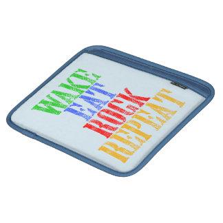 WAKE EAT ROCK REPEAT #3 iPad SLEEVE