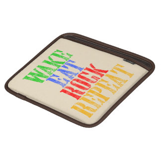 WAKE EAT ROCK REPEAT #3 iPad SLEEVE