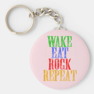 WAKE EAT ROCK REPEAT #3 KEY RING