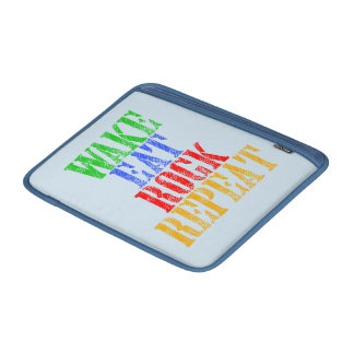 WAKE EAT ROCK REPEAT #3 MacBook SLEEVE
