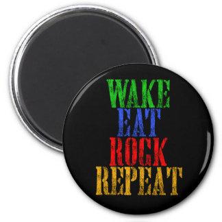 WAKE EAT ROCK REPEAT #3 MAGNET
