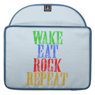 WAKE EAT ROCK REPEAT #3 SLEEVE FOR MacBooks