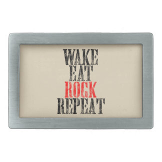 WAKE EAT ROCK REPEAT (blk) Belt Buckle