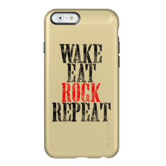 WAKE EAT ROCK REPEAT (blk) Incipio Feather® Shine iPhone 6 Case