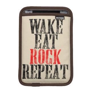 WAKE EAT ROCK REPEAT (blk) iPad Mini Sleeve