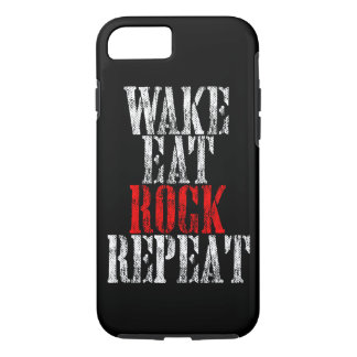 WAKE EAT ROCK REPEAT (blk) iPhone 8/7 Case