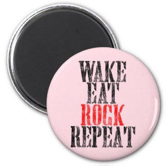 WAKE EAT ROCK REPEAT (blk) Magnet