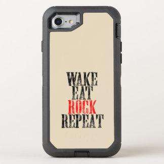 WAKE EAT ROCK REPEAT (blk) OtterBox Defender iPhone 8/7 Case