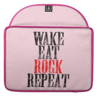 WAKE EAT ROCK REPEAT (blk) Sleeve For MacBooks