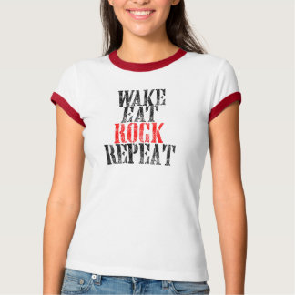 WAKE EAT ROCK REPEAT (blk) T-Shirt