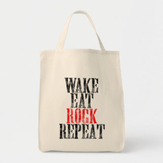 WAKE EAT ROCK REPEAT (blk) Tote Bag