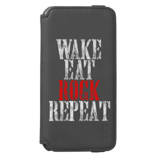 WAKE EAT ROCK REPEAT (wht) Incipio Watson™ iPhone 6 Wallet Case