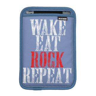 WAKE EAT ROCK REPEAT (wht) iPad Mini Sleeve