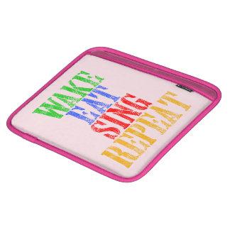 Wake Eat Sing Repeat iPad Sleeve
