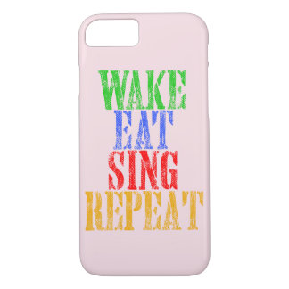 Wake Eat Sing Repeat iPhone 8/7 Case