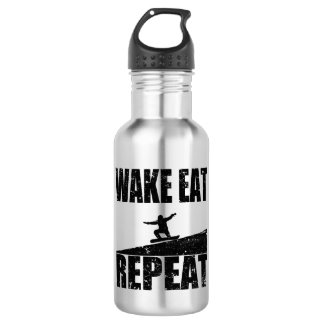 Wake Eat Snowboard Repeat #2 (blk) 532 Ml Water Bottle