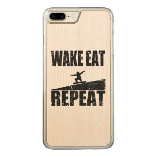 Wake Eat Snowboard Repeat #2 (blk) Carved iPhone 8 Plus/7 Plus Case