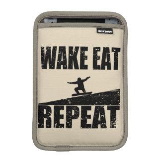 Wake Eat Snowboard Repeat #2 (blk) iPad Mini Sleeve