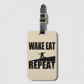Wake Eat Snowboard Repeat #2 (blk) Luggage Tag
