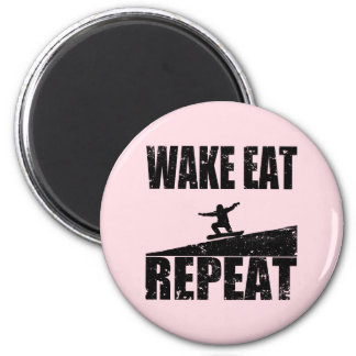 Wake Eat Snowboard Repeat #2 (blk) Magnet