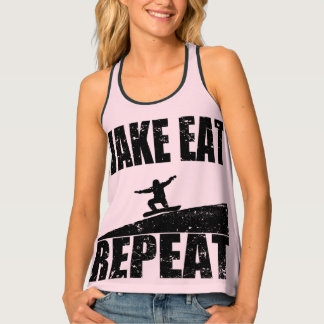 Wake Eat Snowboard Repeat #2 (blk) Singlet