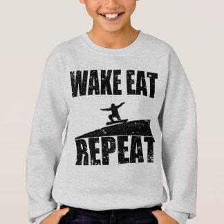 Wake Eat Snowboard Repeat #2 (blk) Sweatshirt