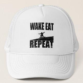 Wake Eat Snowboard Repeat #2 (blk) Trucker Hat